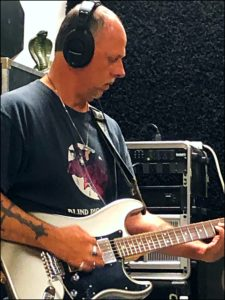 Brian Kloby recording tracks, Electric Skyway Studio, Safety Harbor, Fl